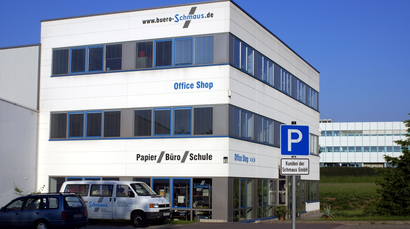"Schmaus GmbH office building and specialist store ""Office Shop"" in Hartmannsdorf"