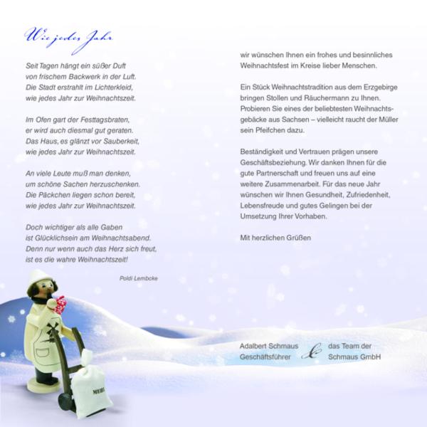 Weihnachtskarte 2013: Schmaus GmbH